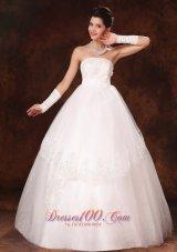 Designer Ball Gown Appliques Church Wedding Dress Winter