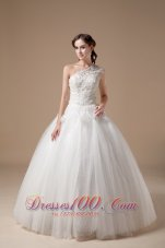 Ball Gown One Shoulder Wedding Gowns Appliques