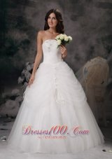 Strapless Wedding Bridal Gowns Skirt in Pocket Style