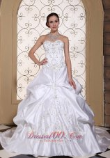 Embroidery Wedding Bridal Gowns For 2013 Customize Pick-ups
