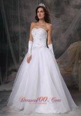 Hand Made Beaded Organza Sweetheart Wedding Dress