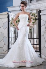 Lace Mermaid Belt Court Wedding Bridal Dress