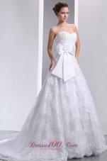 Hand Made Flower Bow Brush Bridal Wedding Dress