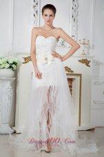 Organza Sweetheart Beaded Wedding Dress Court Train