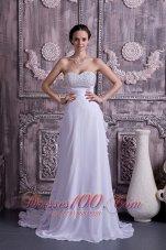 Sassy Empire Sweetheart Wedding Dress Chiffon