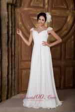 Sweetheart Train Chiffon Beading Wedding Gowns