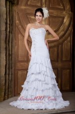 Latest Sweetheart In vogue Chiffon Wedding Dress
