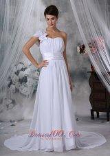 A-line Sweetheart Wedding Dress With Satin Sweetheart