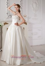 Exquisite A-line Sweetheart Wedding Dress Taffeta