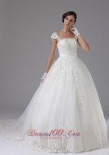 Custom Wedding Dress Lace Sassy Cap Sleeves
