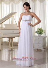 Impressive Beaded Chiffon Wedding Dress Empire