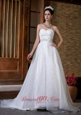 Beautiful Wedding Dress Sweetheart Beading Rcuhed Taffeta
