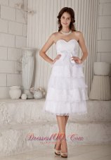 Latest Sassy Empire Sweetheart Short Wedding Dress Organza