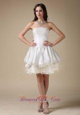 Beautiful Strapless Woven Satin Organza Wedding Dress