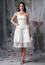 Vogue A-line Strapless Homecoming Prom Dress Taffeta Ruch