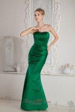 Mermaid Bridesmaid Dress with Satin Green Design