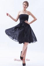 Black Princess Strapless Bow Bridesmaid Dress Corset