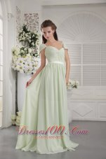 Apple Green Cap Sleeve Ruch Bridesmaid Dress Belt