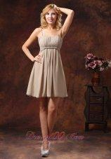 Spaghetti Straps Chiffon Dresses For Bridesmaids