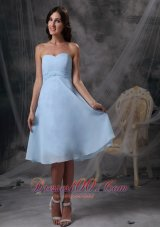 Sweetheart Ruch Baby Blue Homecoming Dress For Cocktail