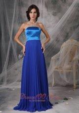 Royal Blue Elegant Dress for Maid of Honor Empire Ruching