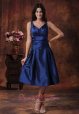 Royal Blue Straps Dress for Bridesmaid Custom Color