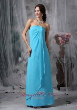 Baby Blue Casual Homecoming Wear Empire Floor-length