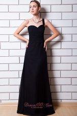 Black Trends One Shoulder Bridesmaid Dress Chiffon