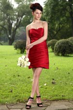 Wine Red Mini-length Dress for Prom Homecoming Wears