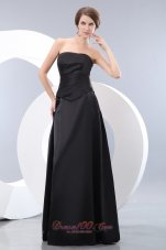 Convertible Black Bridesmaid Formal Dress Empire Ruching