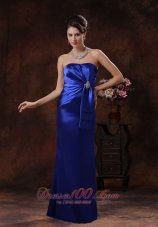 Mermaid Style Royal Blue Mother Of Bride Dress Gather