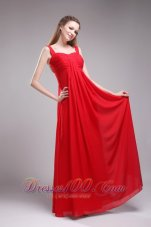 Straps Christmas Red Empire Prom Dress for Plus Size