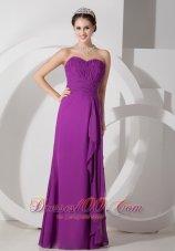Dark Magenta Ruffles Homecoming Dress Empire Sweetheart