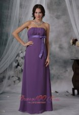 Plus Size Maxi Bridesmaid Dress Medium Purple Ribbon