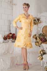 Orange Yellow Prom Cocktail Dress Sweetheart with Jacket