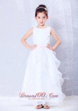 Scoop Flower Girl Dress Custom Made Ankle-length