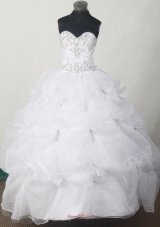 white child pageant dresses With Appliques and Pick-ups