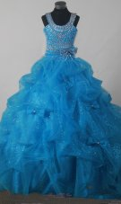 Gorgeous Sequince Pick-ups Pageant Dress Scoop 2013