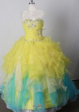 Brand New Ruffles Pageant Dress Sweetheart Floor-length Colorful