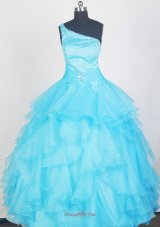 Aqua Blue Girls Pageant Dresses With Ruffles