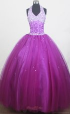 Beaded Halter Discount Little Girl Pageant Dress 2013