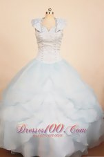Custom Color Special Pageant Dresses Scoop Rhinestones