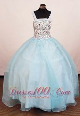 Heavy Rhinestones Square Junior Miss Pageant Dresses