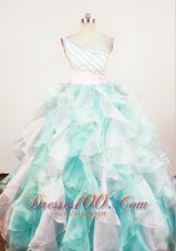 One Shoulder Multi-color Pageant Dresses for Sweet Sixteen