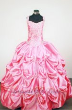 Pick-ups Straps Rose Pink Sweet Fifteen Gowns Beading