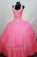 Waltermelon Junior Miss Pageant Dresses Sheath Beaded