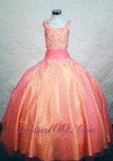 Ombre Beading Sash Pageant Dresses for Girls Custom Made