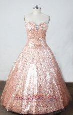 Sweetheart Misty Rose Sequined Ball Gown for Sweet Sixteen