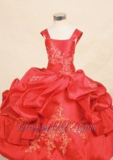 Corset Appliques Pageant Dresses for Little Girls Pleats