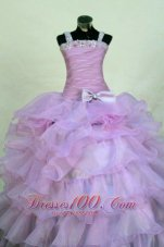 Beading Organza StrapsLavender LIL Girl Pageant Dresses